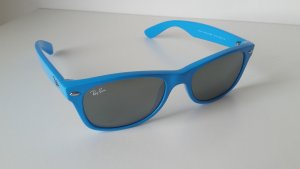 Ray Ban Retro Glasses neon blue-silver-colored synthetic material