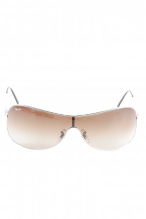 Ray Ban Oval Sunglasses silver-colored-brown business style