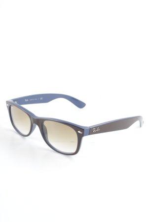 Ray Ban Gafas de sol ovaladas marrón-azul aciano look casual