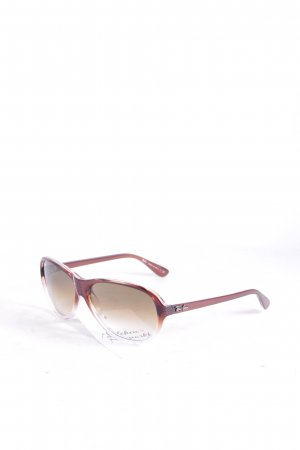 Ray Ban ovale Sonnenbrille braunrot Farbverlauf schlichter Stil