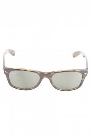 Ray Ban ovale Sonnenbrille braun-blassgelb abstraktes Muster Casual-Look