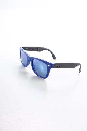 Ray Ban ovale Sonnenbrille dunkelblau-schwarz extravaganter Stil