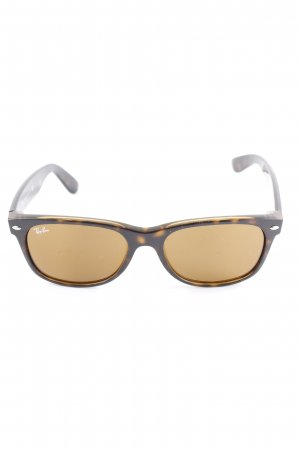 Ray Ban ovale Sonnenbrille dunkelbraun Casual-Look