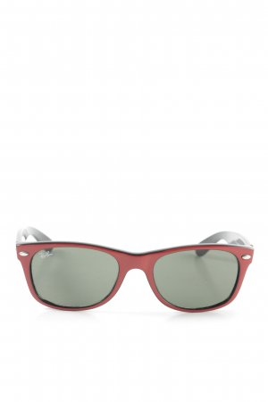 Ray Ban Oval Sunglasses black-red casual look