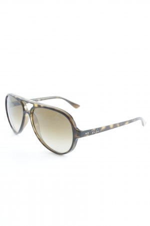Ray Ban ovale Sonnenbrille goldfarben-dunkelbraun Casual-Look