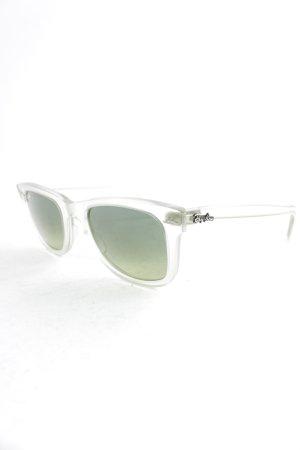 Ray Ban ovale Sonnenbrille hellgrün Street-Fashion-Look
