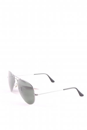 Ray Ban ovale Sonnenbrille schwarz Casual-Look