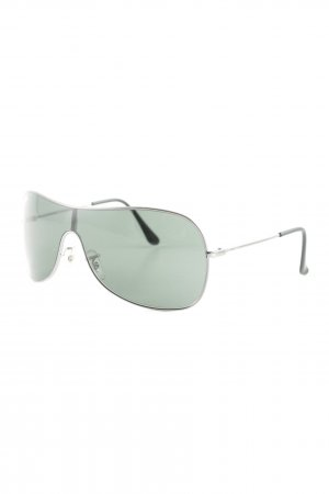 Ray Ban ovale Sonnenbrille schwarz-grau Casual-Look