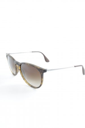 Ray Ban ovale Sonnenbrille schwarzbraun Boho-Look