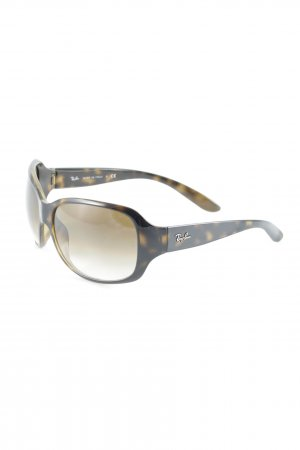 Ray Ban Oval Sunglasses black brown-light brown animal pattern