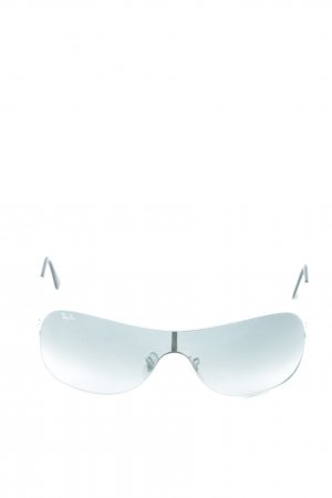Ray Ban Oval Sunglasses white-black athletic style