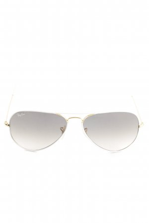 Ray Ban Aviator Glasses light grey color gradient casual look