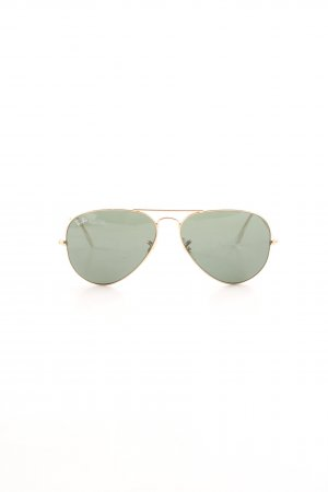 Ray Ban Aviator Glasses green-gold-colored casual look