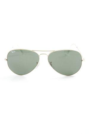 Ray Ban Pilot Brille dunkelgrün-goldfarben Casual-Look