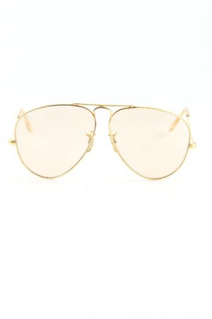 Ray Ban Pilot Brille goldfarben-beige Casual-Look