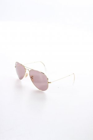 Ray Ban Pilot Brille goldfarben-blasslila schlichter Stil