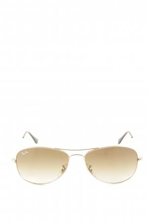 Ray Ban Aviator Glasses gold-colored-brown casual look