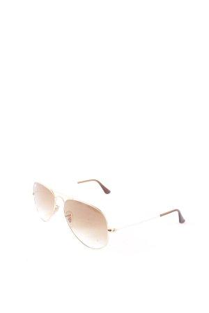 Ray Ban Pilot Brille goldfarben-braun klassischer Stil