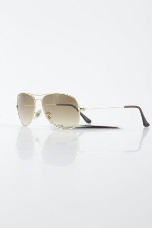 Ray Ban Pilot Brille goldfarben-braun Retro-Look