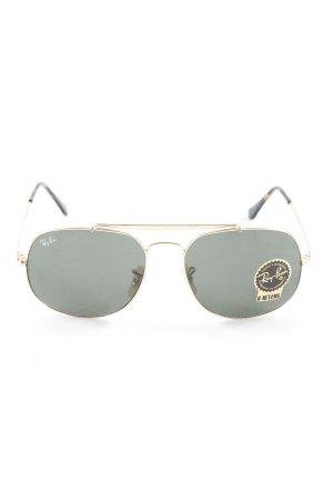 Ray Ban Pilot Brille goldfarben-dunkelgrau Casual-Look