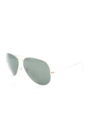 Ray Ban Pilot Brille goldfarben-dunkelgrün Casual-Look