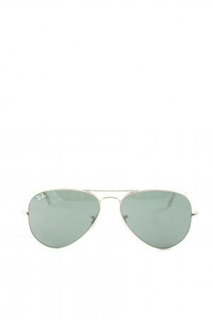 Ray Ban Pilot Brille goldfarben-dunkelgrün Country-Look