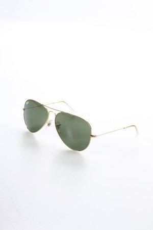 Ray Ban Pilot Brille goldfarben-dunkelgrün klassischer Stil