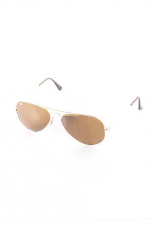 Ray Ban Pilot Brille goldfarben-hellbraun Beach-Look