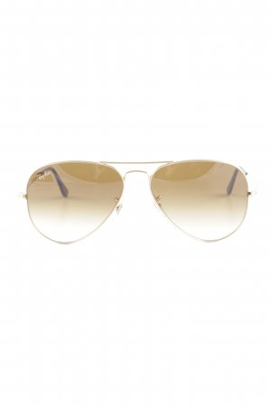 Ray Ban Pilotenbril goud-lichtbruin zakelijke stijl