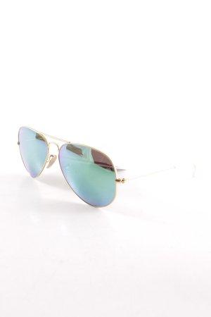 Ray Ban Pilot Brille goldfarben-kadettblau Beach-Look