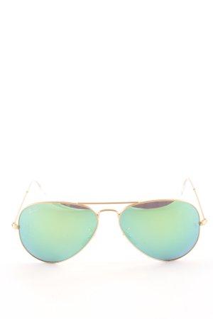 Ray Ban Pilot Brille goldfarben-kadettblau Casual-Look