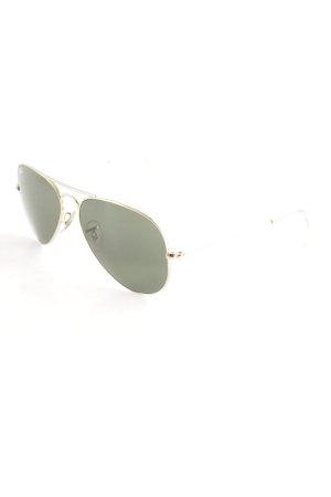 Ray Ban Pilotenbril goud-khaki retro uitstraling