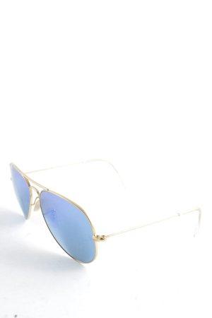 Ray Ban Lunettes aviateur doré-bleu fluo style athlétique