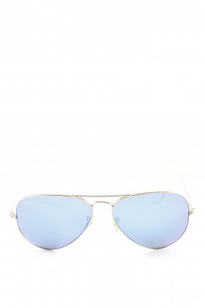 Ray Ban Pilot Brille goldfarben-petrol Casual-Look