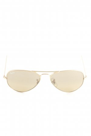 Ray Ban Pilot Brille goldfarben-weiß Casual-Look