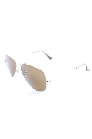 Ray Ban Pilotenbril lichtbruin klassieke stijl
