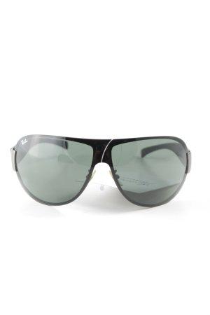 Ray Ban Pilot Brille schwarz-dunkelgrün Casual-Look