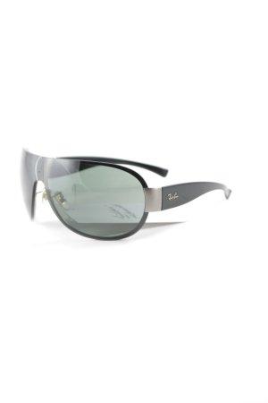 Ray Ban Pilotenbril zwart-donkergroen casual uitstraling