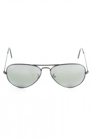 Ray Ban Pilot Brille schwarz-olivgrün Casual-Look