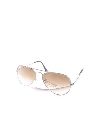 Ray Ban Pilot Brille schwarz-silberfarben 70ies-Stil