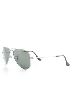 Ray Ban Pilot Brille schwarz-silberfarben Casual-Look