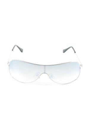 Ray Ban Pilot Brille silberfarben-blassblau Street-Fashion-Look
