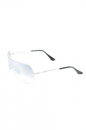 Ray Ban Aviator Glasses silver-colored-pale blue street-fashion look
