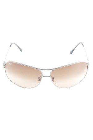 Ray Ban Pilot Brille silberfarben klassischer Stil
