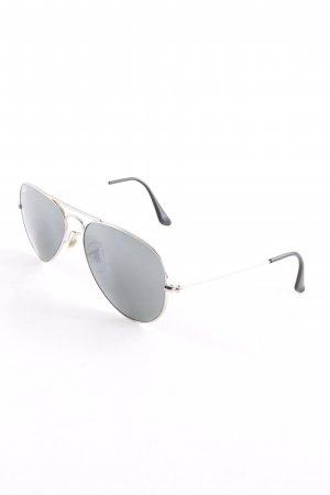 Ray Ban Pilot Brille silberfarben Street-Fashion-Look