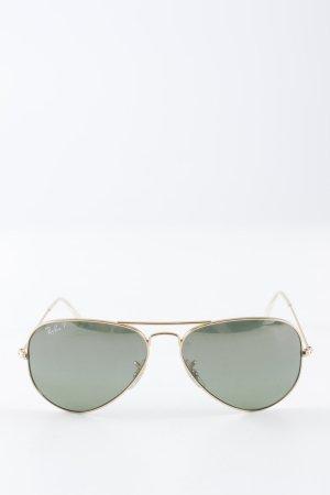 Ray Ban Pilot Brille waldgrün-goldfarben Biker-Look