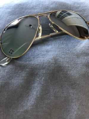Ray Ban Piloten Brille verspiegelt Spiegelglas Gold‼️‼️
