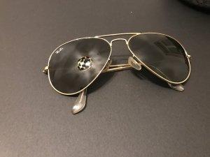 Ray Ban Gafas de piloto marrón-negro-color oro