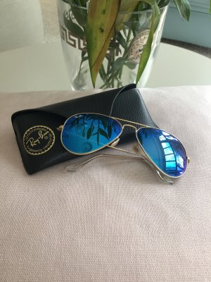 Ray Ban Aviator Glasses cornflower blue-gold-colored