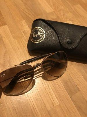 Ray Ban Pilotenbril goud-bruin